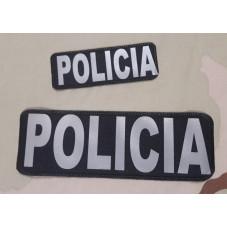 PATCH POLICIA GRAY REFLEX...