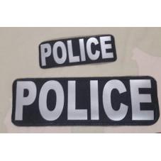 PATCH POLICE GRAY REFLEX...