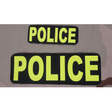 PATCH POLICE YELLOW FLUOR...