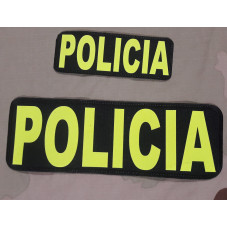 PATCH POLICIA YELLOW FLUOR...