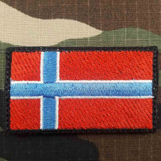 PATCH FLAG NORWAY VELCRO...