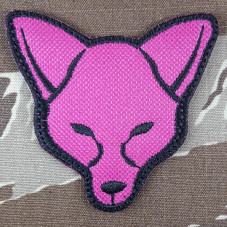 PATCH MORALE FOX  PINK  VELCRO
