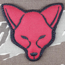PATCH MORALE FOX  RED  VELCRO