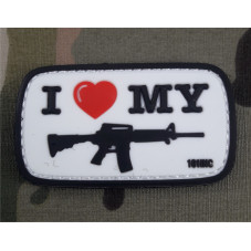 PATCH PVC I LOVE M4 USA...