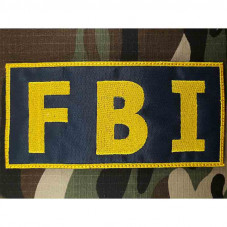 Patch FBI police USA  color...