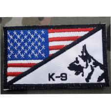 PATCH K9 FLAG USA . COLOR...