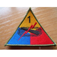 PATCH WW2 TANK DIV 100X90mm