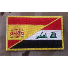 PATCH BANDERA ESPAÑA / IRAK...